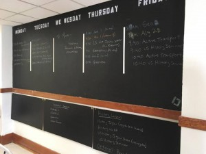 weekly schedule on blackboard
