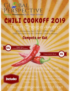 Chili Cook Off Contestant Poster 2019